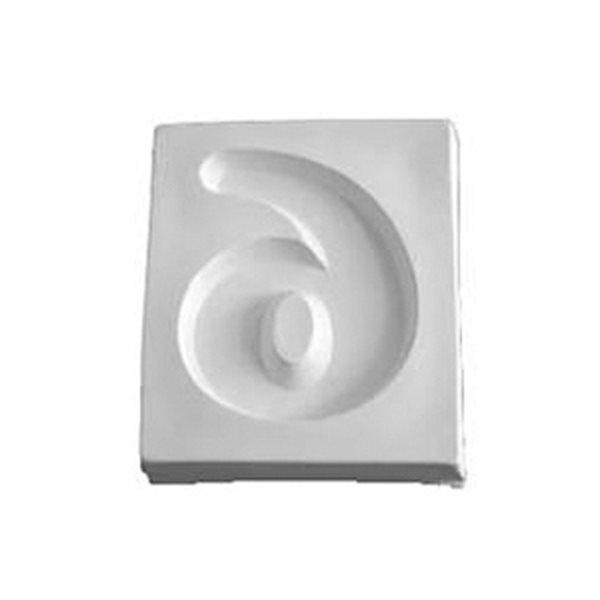 Number 6 - 12.2x10.1x1.9cm - Ouverture: 9.5x7.5cm - Moule pour Fusing