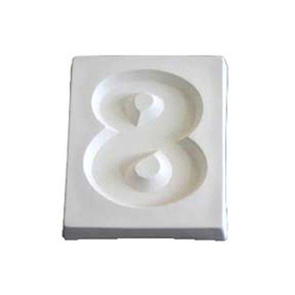 Number 8 - 12.1x10x1.9cm - Ouverture: 9.5x7.8cm - Moule pour Fusing