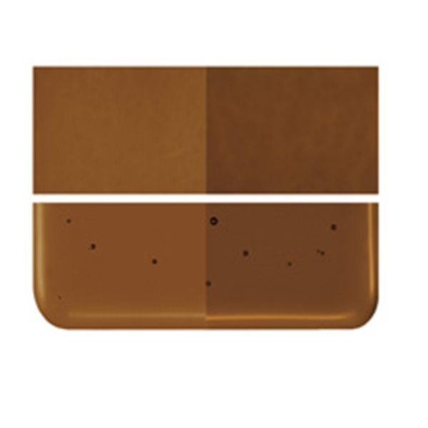 Bullseye Sienna - Transparent - 2mm - Thin Rolled - Fusing Glas Tafeln
