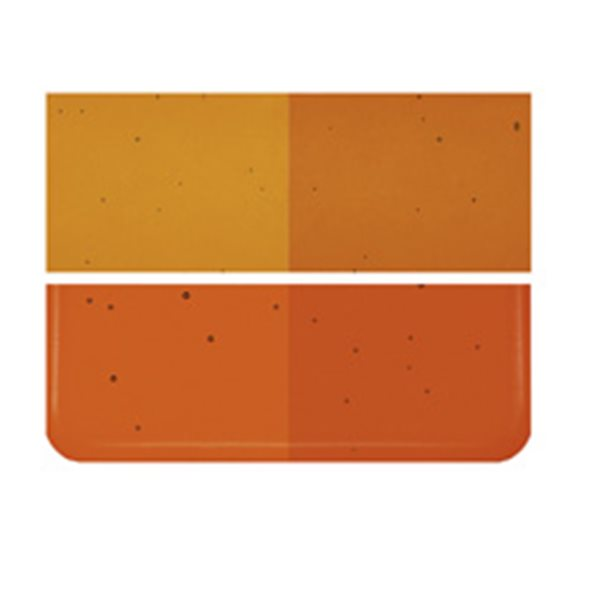 Bullseye Carnelian - Transparent - 2mm - Thin Rolled - Fusing Glas Tafeln