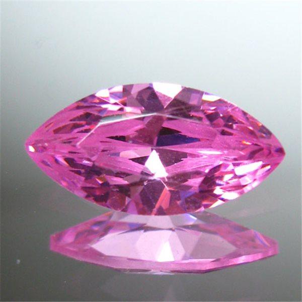 Cubic Zirkonia - Pink - Marquise - 5x2.5mm - 5 Stück