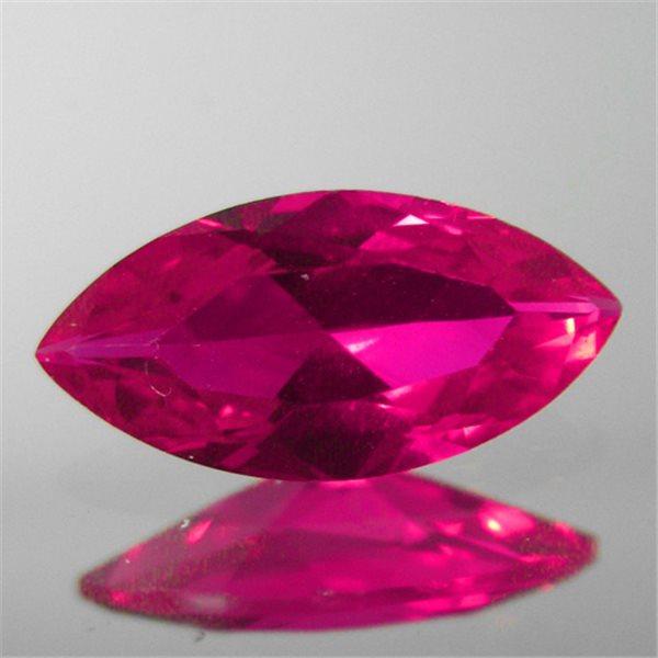 Synthetisch Corund - Ruby Red - Marquise - 5x2.5mm - 5 Stück