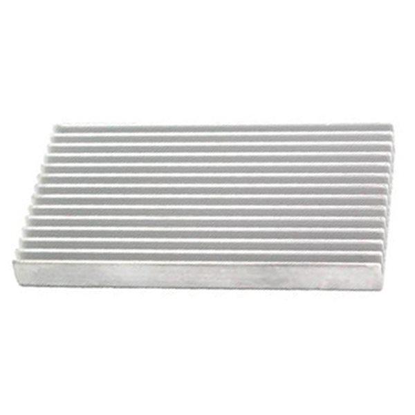 Aluminium Platte mit Rillen - 5x10cm