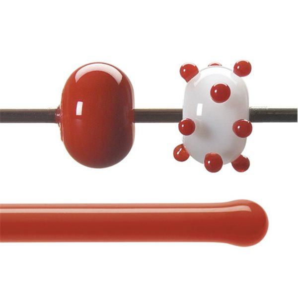 Bullseye Stange - Tomato Red - 4-6mm - Opaleszent
