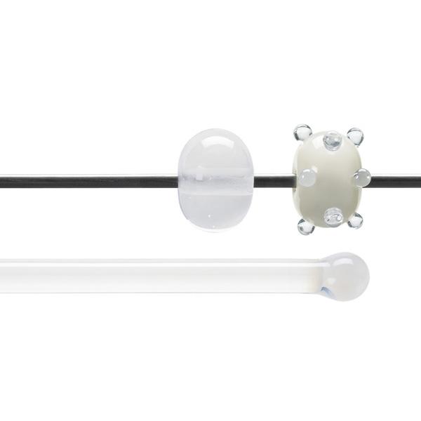 Bullseye Stange - Translucent White - 4-6mm - Opaleszent
