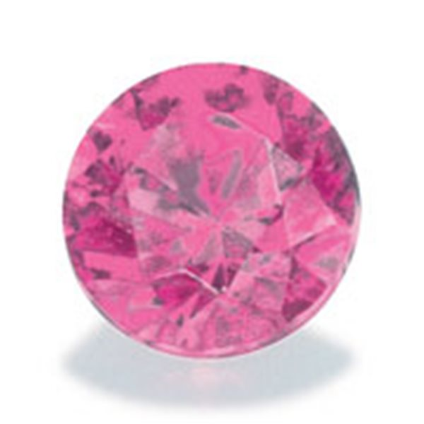 Cubic Zirkonia - Pink - Rund - 10mm - 1 Stück