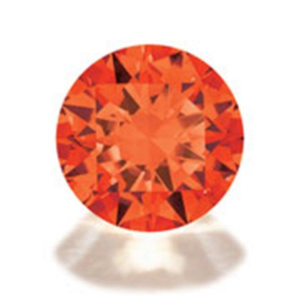 Cubic Zirkonia - Orange - Rund - 10mm - 1 Stück