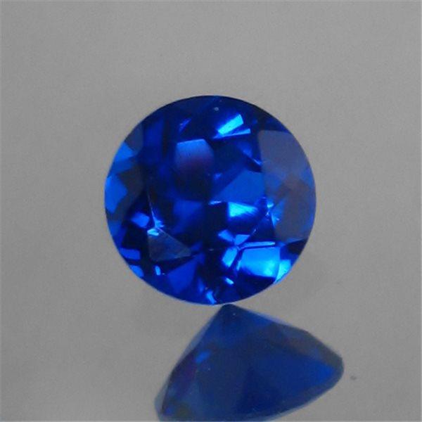 Synthetisch Spinell - Sapphire - Rund - 4mm - 5 Stück