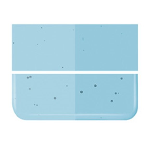 Bullseye Light Turquoise Blue - Transparent - 2mm - Thin Rolled - Fusing Glas Tafeln