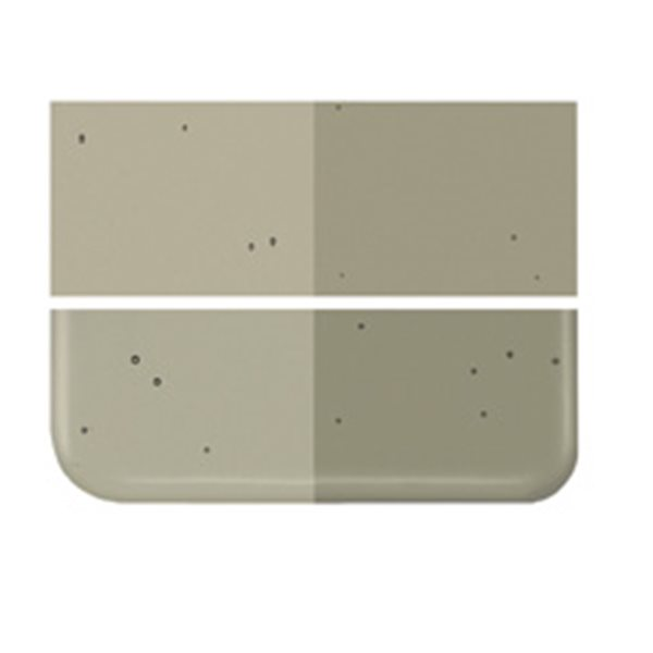 Bullseye Oregon Gray - Transparent - 2mm - Thin Rolled - Fusing Glas Tafeln
