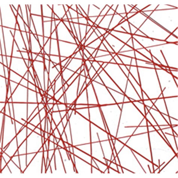 Bullseye Red Chopstix on Clear Base - Collage - 3mm - Fusing Glas Tafeln