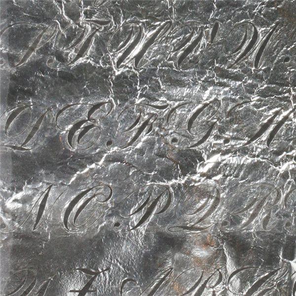 Silberfolie - Bank Script - 10x10cm