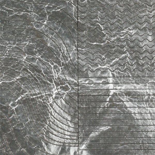 Silberfolie - Wave - 10x10cm
