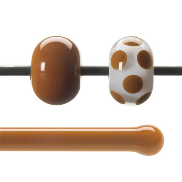 Bullseye Stange - Burnt Orange - 4-6mm - Opaleszent