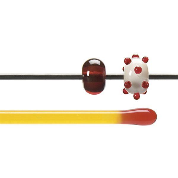 Bullseye Stange - Red Orange - 4-6mm - Transparent