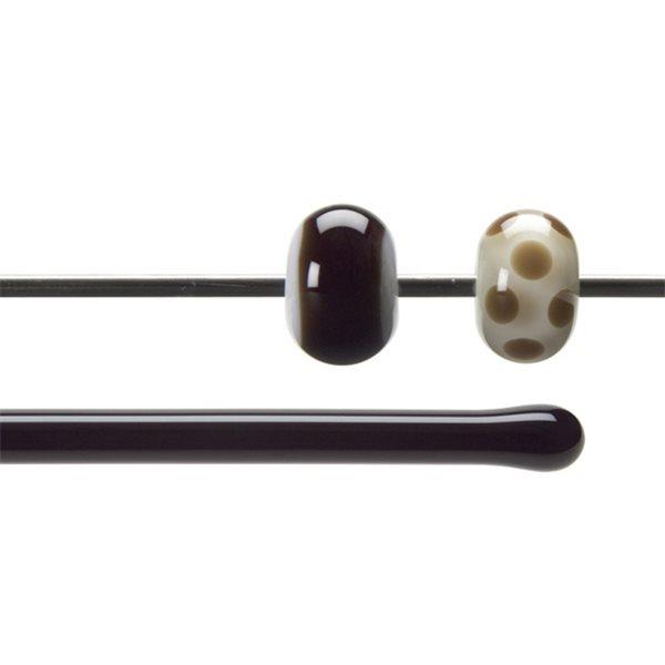 Bullseye Stange - Dark Rose Brown - 4-6mm - Transparent