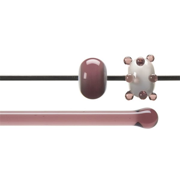 Bullseye Stange - Light Plum - 4-6mm - Transparent