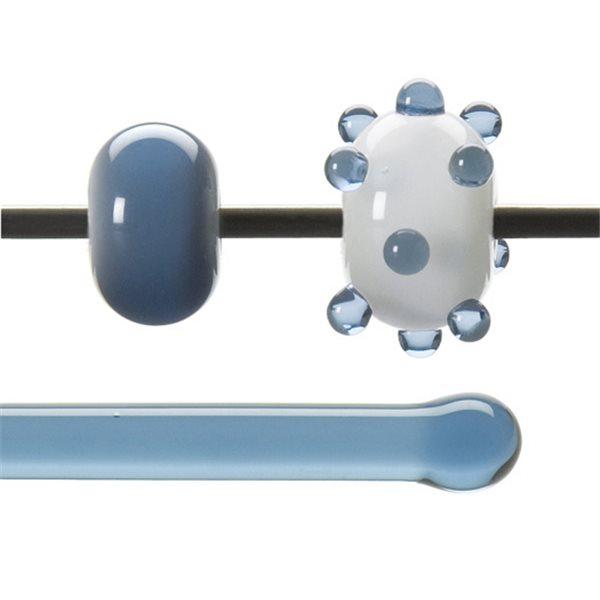 Bullseye Stange - Pale Steel Blue - 4-6mm - Transparent