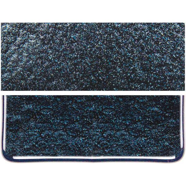 Bullseye Aventurine Blue - Transparent - Rainbow Irid - 3mm - Fusing Glas Tafeln