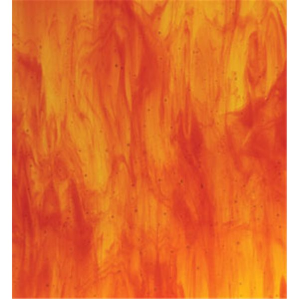 Bullseye Yellow - Red Striker 2 Color Mix - 3mm - Fusing Glas Tafeln