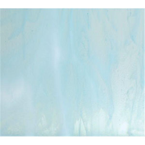 Bullseye Aqua Blue Tint - White 2 Color Mix - 3mm - Fusing Glas Tafeln