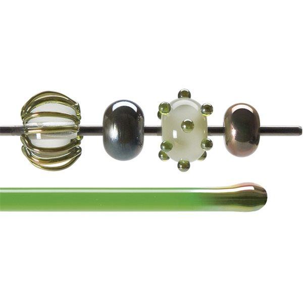 Bullseye Stange - Green Lustre - 4-6mm - Transparent
