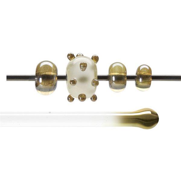 Bullseye Stange - Amber Lustre - 4-6mm - Transparent