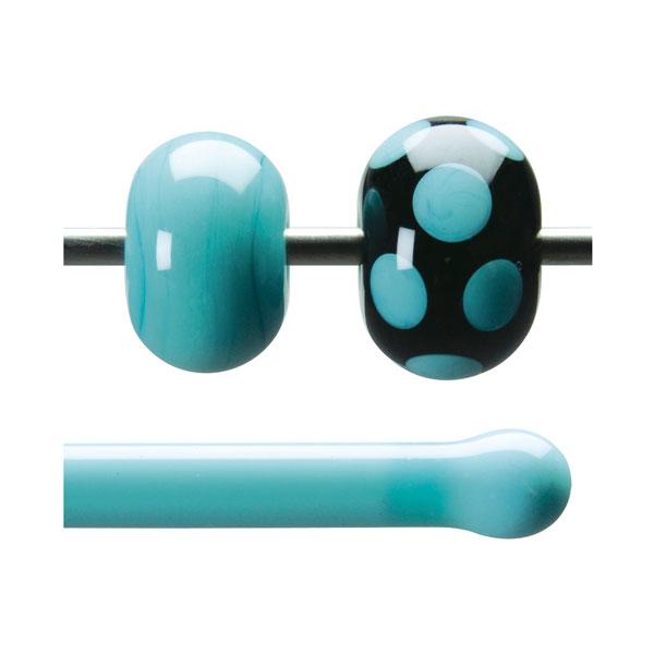 Bullseye Stange - Turquoise Opaque - 4-6mm - Opaleszent