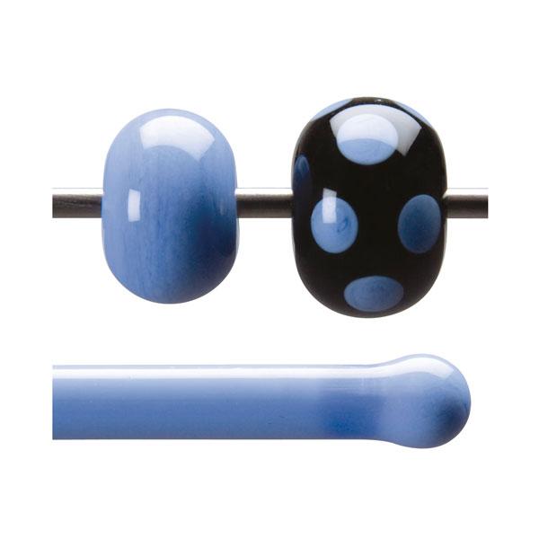 Bullseye Stange - Periwinkle Opaque - 4-6mm - Opaleszent