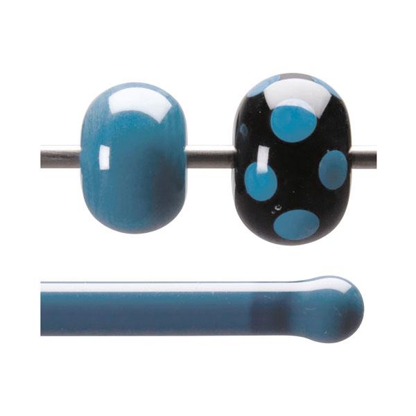 Bullseye Stange - Bluestone Opaque - 4-6mm - Opaleszent