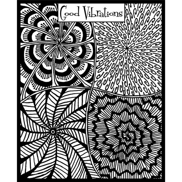 Rubber Stamp Mat - Good Vibrations - 10x12.5cm
