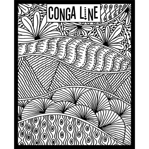 Rubber Stamp Mat - Conga Line - 10x12.5cm