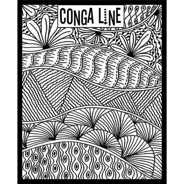 Rubber Stamp Mat - Conga Line - 10x12.5cm
