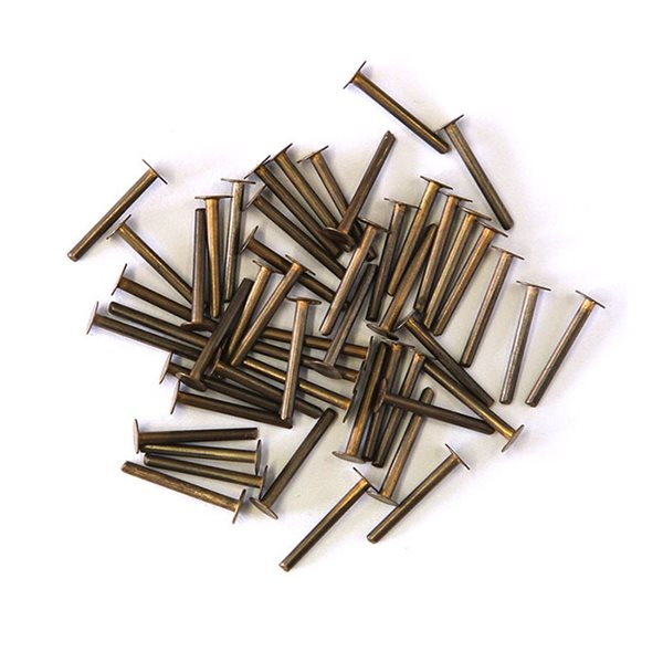 Brass Rivets - 50pcs - 1.3mm