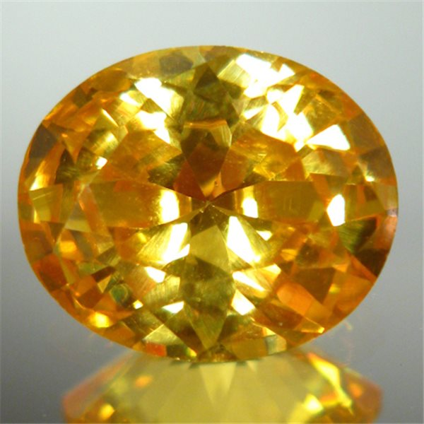 Cubic Zirconia - Yellow - Oval - 9x7mm - 1pc