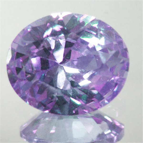Cubic Zirconia - Lavender - Oval - 9x7mm - 1pc
