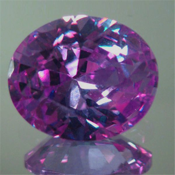 Cubic Zirconia - Amethyst - Oval - 9x7mm - 1pc