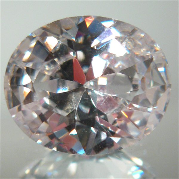 Cubic Zirconia - White - Oval - 9x7mm - 1pc