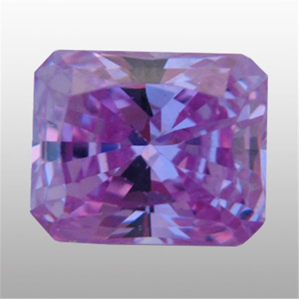 Cubic Zirconia - Lavender - Emerald - 9x7mm - 1pc
