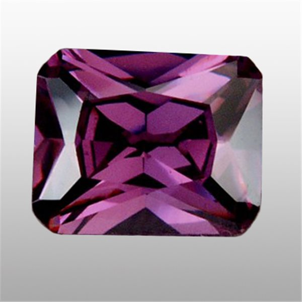 Cubic Zirconia - Amethyst - Emerald - 9x7mm - 1pc