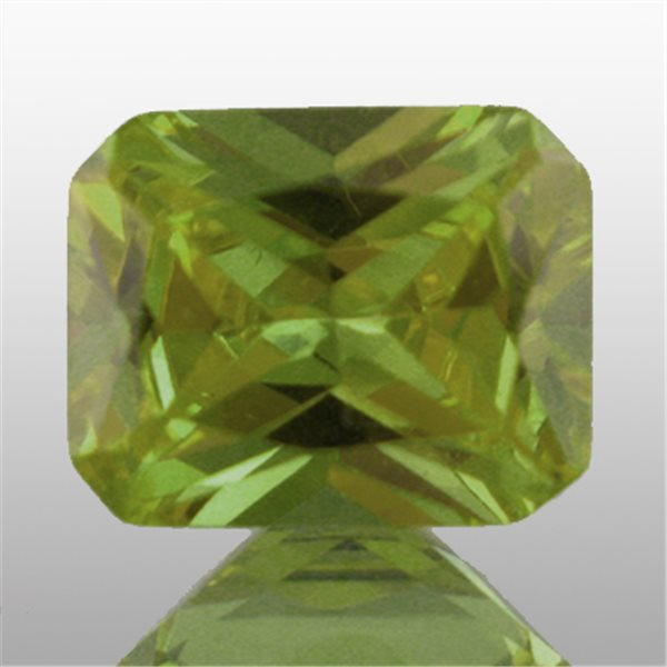 Cubic Zirconia - Peridot - Emerald - 9x7mm - 1pc