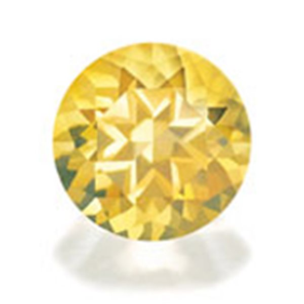 Cubic Zirconia - Yellow - Round - 14mm - 1pc