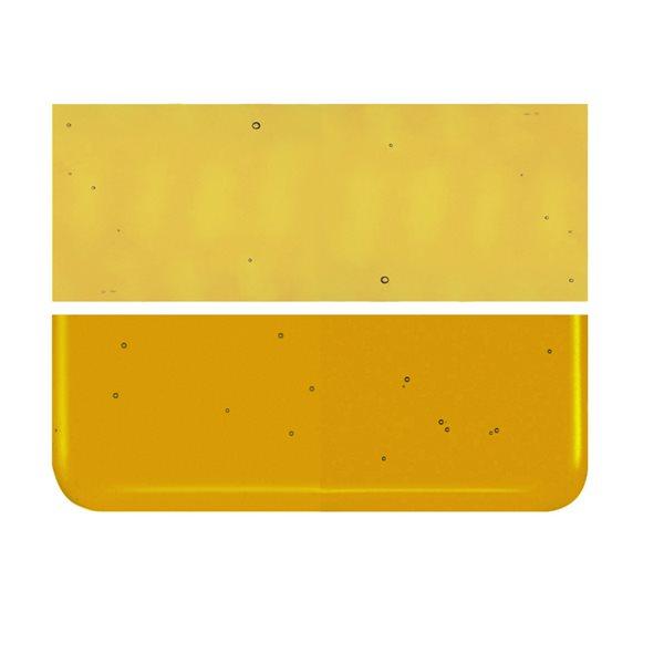 Bullseye Experimental Yellow-Orange - Transparent - 2mm - Thin Rolled - Fusible Sheet Glass