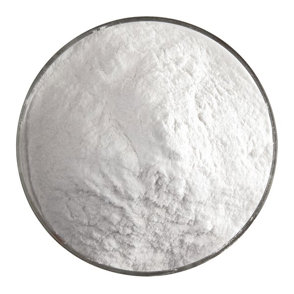 Bullseye Frit - Warm White - Powder 450g - Opalescent