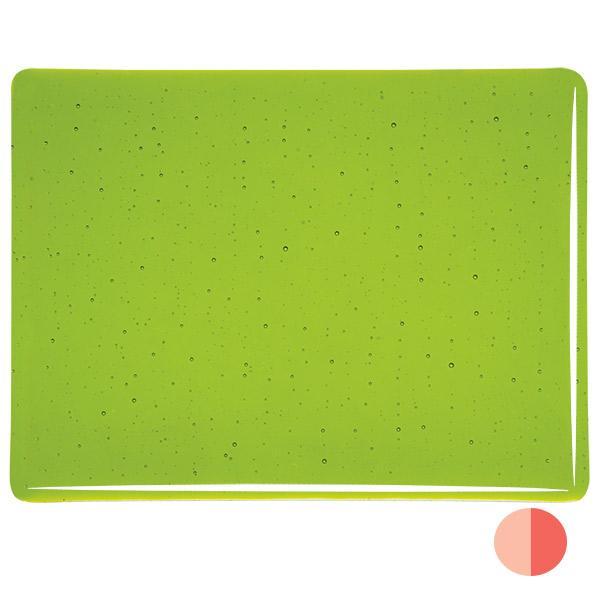 Bullseye Vernal Green - Transparent - 3mm - Fusible Glass Sheets