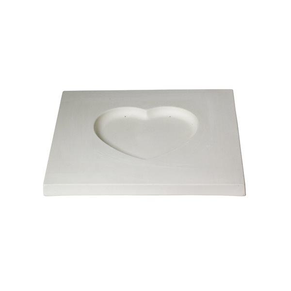 Flat Heart Slumper - 30x31x2.2cm - Fusing Mould