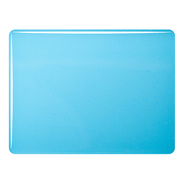 Bullseye Turquoise Blue Tint - Transparent - 3mm - Fusible Glass Sheets