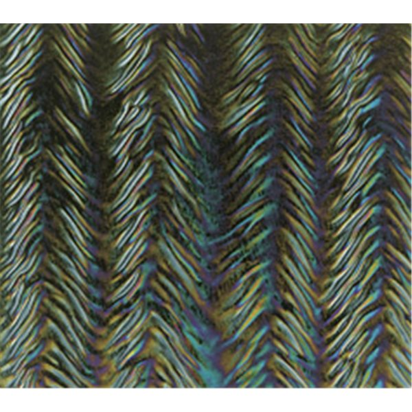 Bullseye Black - Opaleszent - Herringbone Ripple Irid - 3mm - Fusing Glas Tafeln