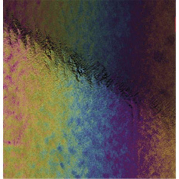 Bullseye Black - Opaleszent - Rainbow Irid - 2mm - Fusing Glas Tafeln