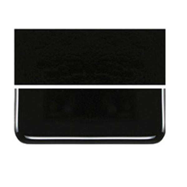 Bullseye Black - Opaleszent - 6mm - Single Rolled - Fusing Glas Tafeln